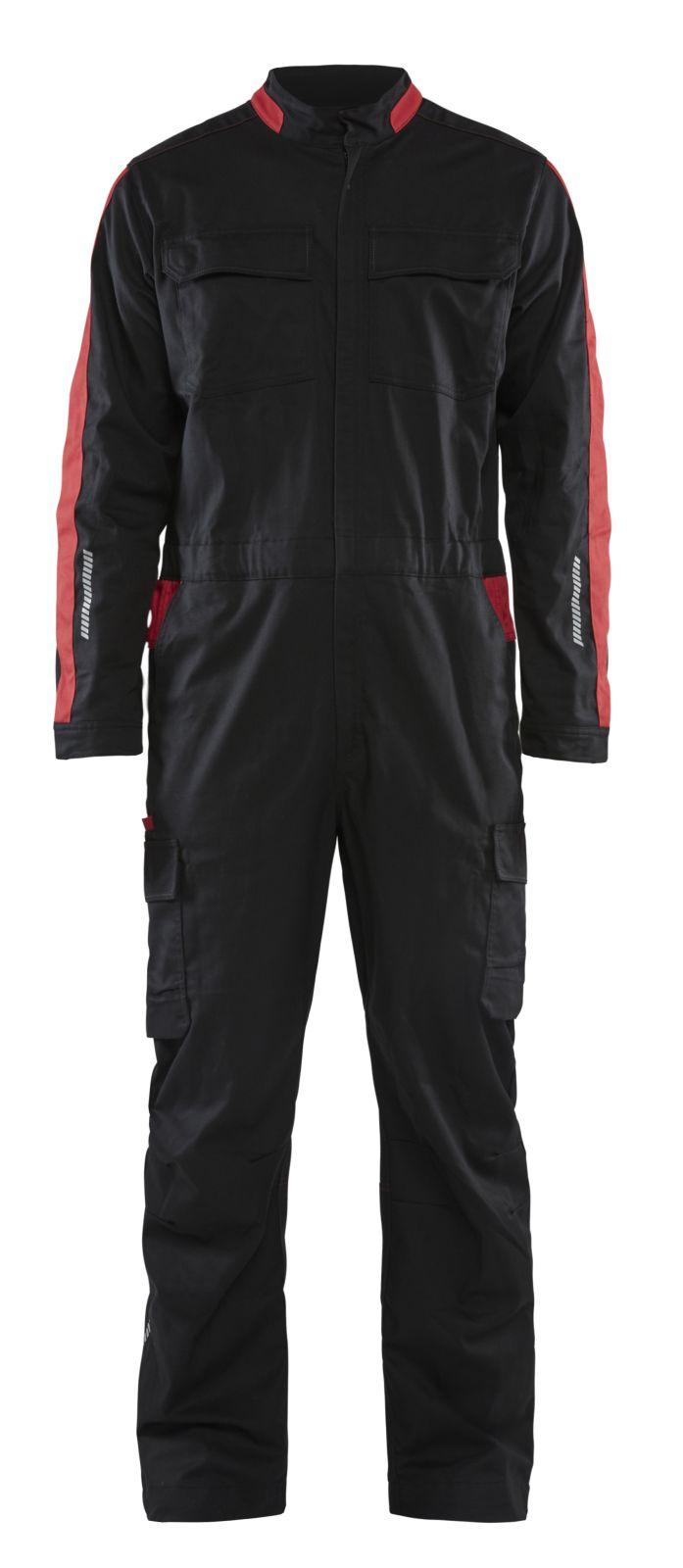 Blaklader Overalls 61441832 zwart-rood(9956)