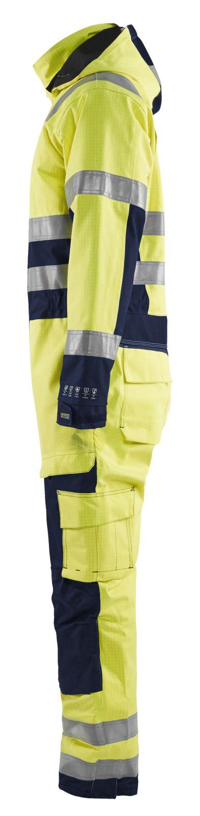 Blaklader Winteroveralls 63681530 Multinorm geel-marineblauw(3389)