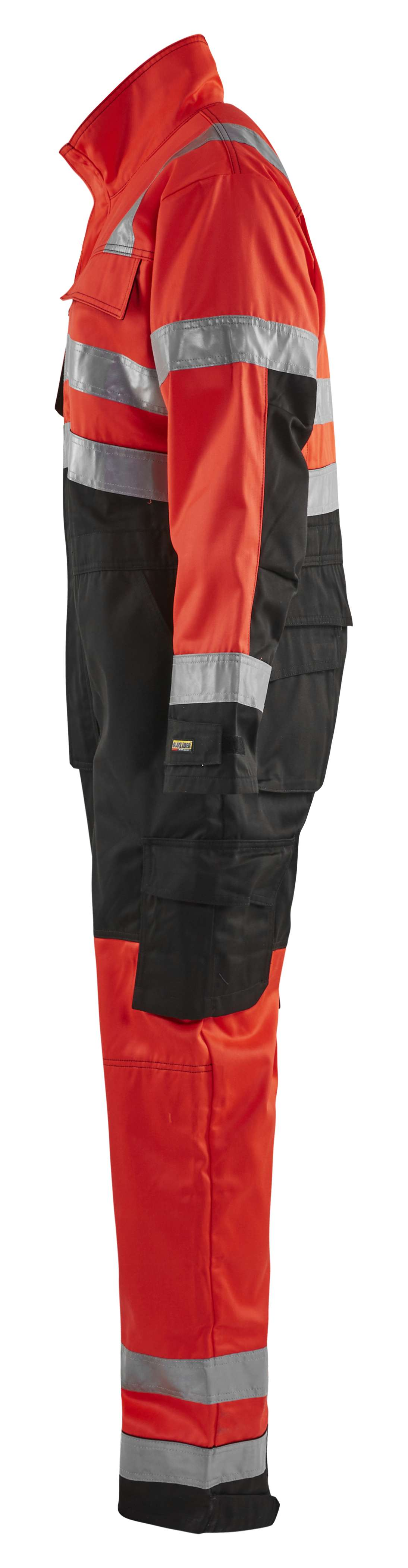 Blaklader Overalls 63731804 High Vis fluo rood-zwart(5599)