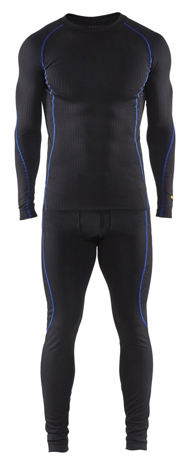 Blaklader Kleding sets 68101707 Shirt en onderbroek zwart-korenblauw(9985)