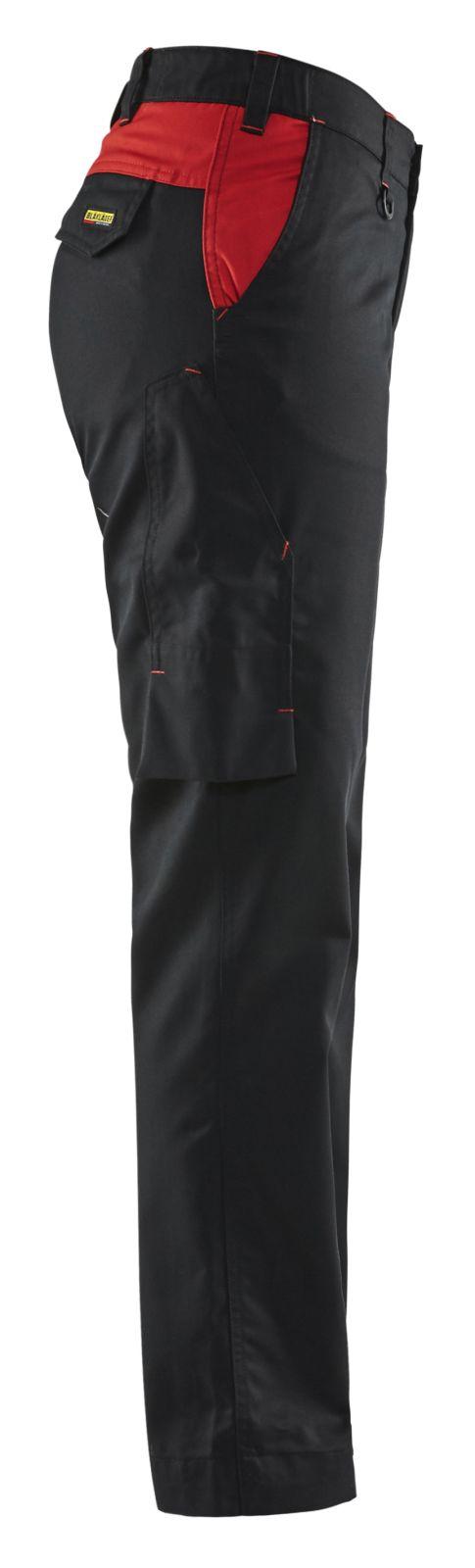 Blaklader Dames werkbroeken 71041800 zwart-rood(9956)