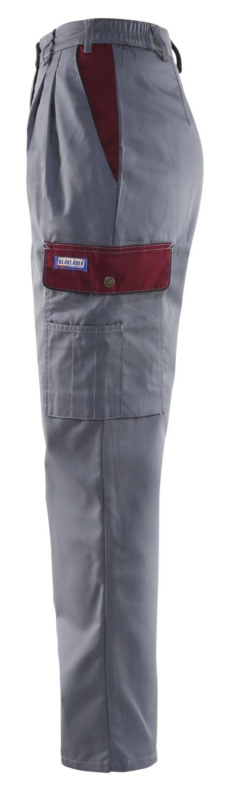 Blaklader Dames werkbroeken 71051800 grijs-bordeauxrood(9457)