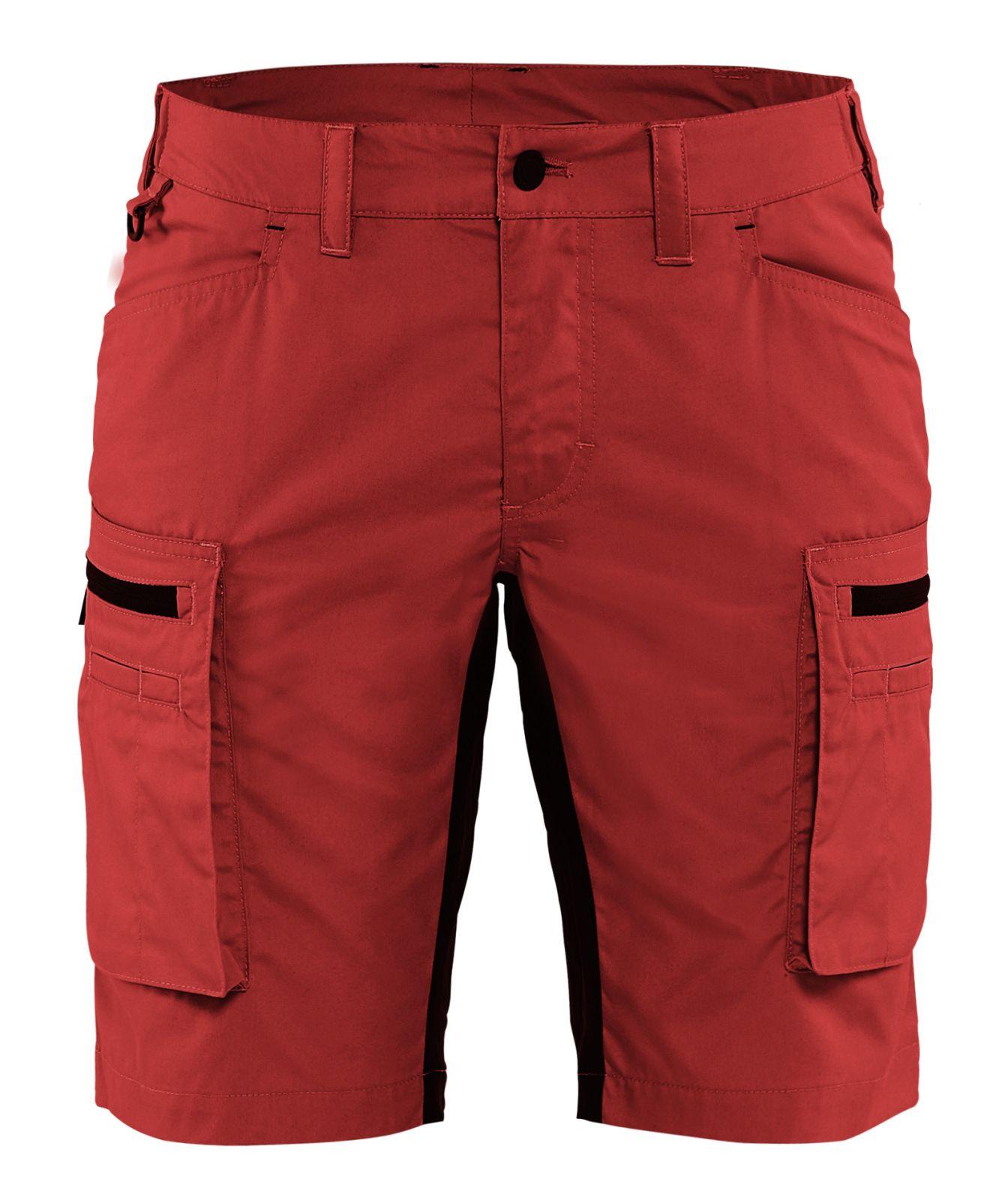 Blaklader Korte dames werkbroeken 71491845 rood-zwart(5699)