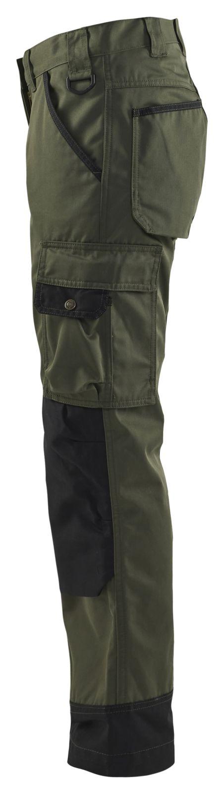 Blaklader Dames werkbroeken 71541835 army groen-zwart(4699)