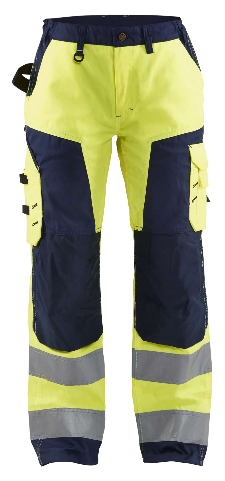 Blaklader Broeken 71551811 High Vis fluo geel-marineblauw(3389)