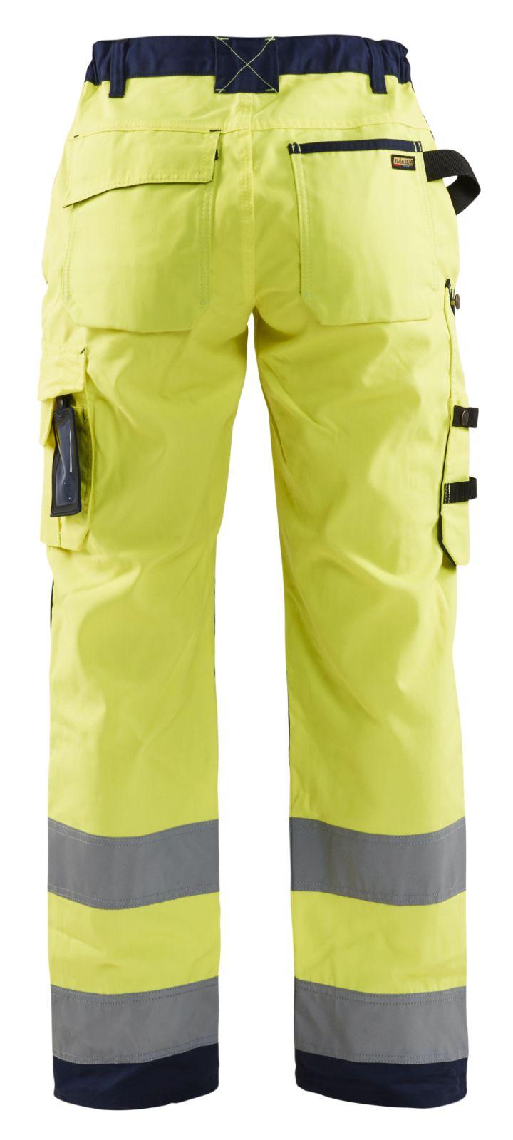 Blaklader Dames werkbroeken 71551811 High Vis geel-marineblauw(3389)