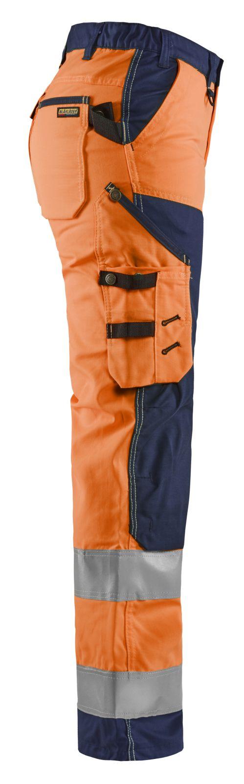 Blaklader Dames werkbroeken 71551811 High Vis oranje-marineblauw(5389)