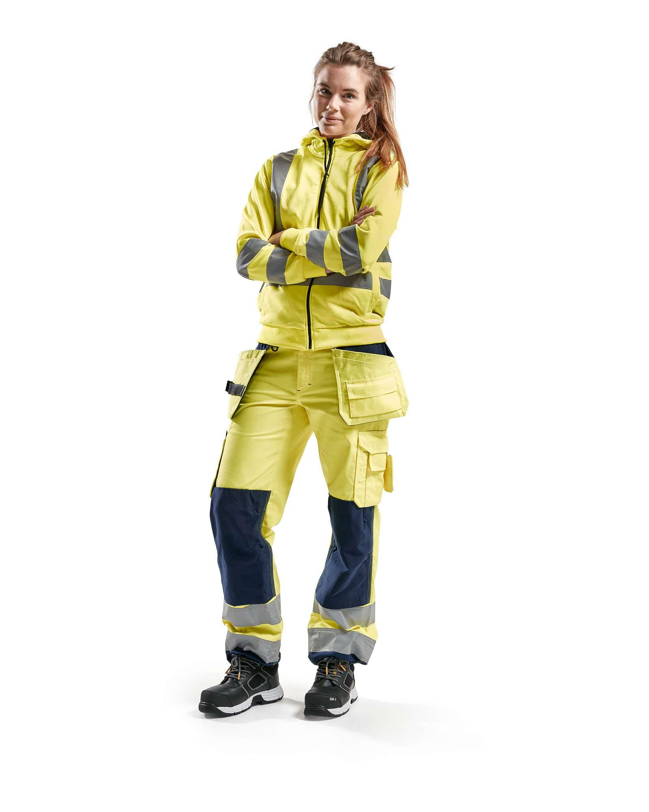 Blaklader Dames werkbroeken 71561811 High Vis geel-marineblauw(3389)