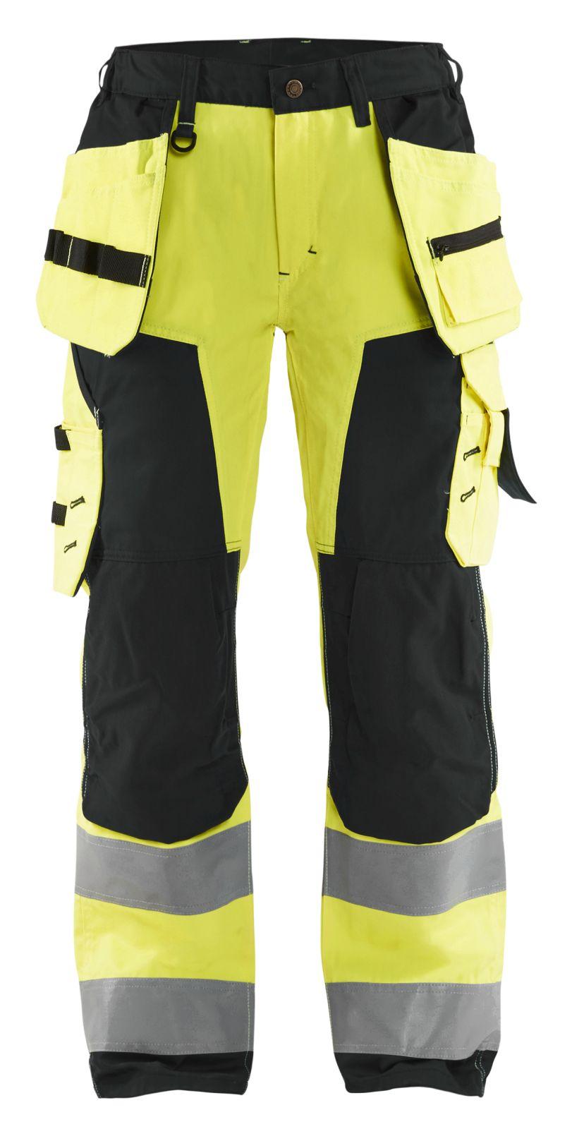 Blaklader Dames werkbroeken 71561811 High Vis geel-zwart(3399)