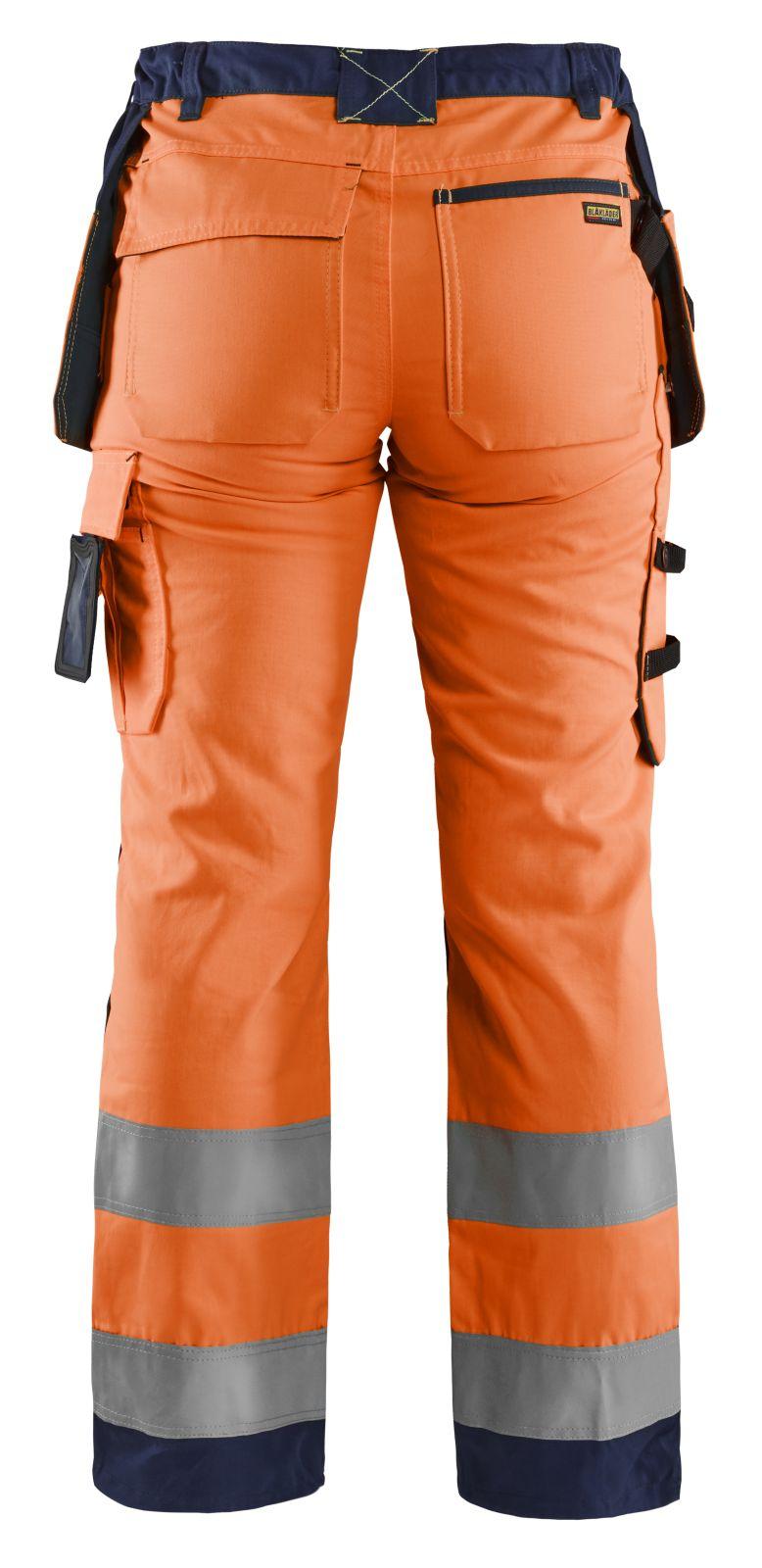 Blaklader Dames werkbroeken 71561811 High Vis oranje-marineblauw(5389)