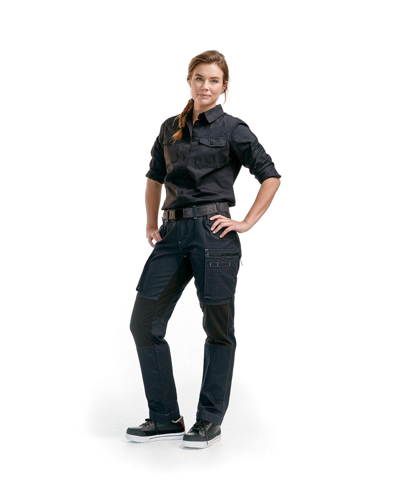 Blaklader Dames werkbroeken 71591142 Stretch marineblauw-zwart(8999)