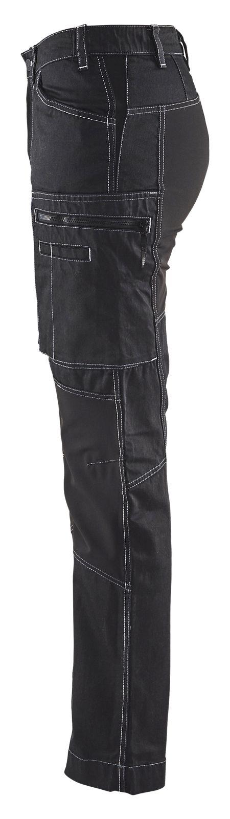 Blaklader Dames werkbroeken 71591142 Stretch zwart(9900)