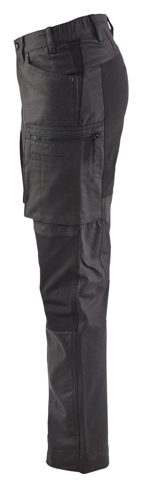 Blaklader Dames werkbroeken 71591146 Stretch donkergrijs-zwart(9899)