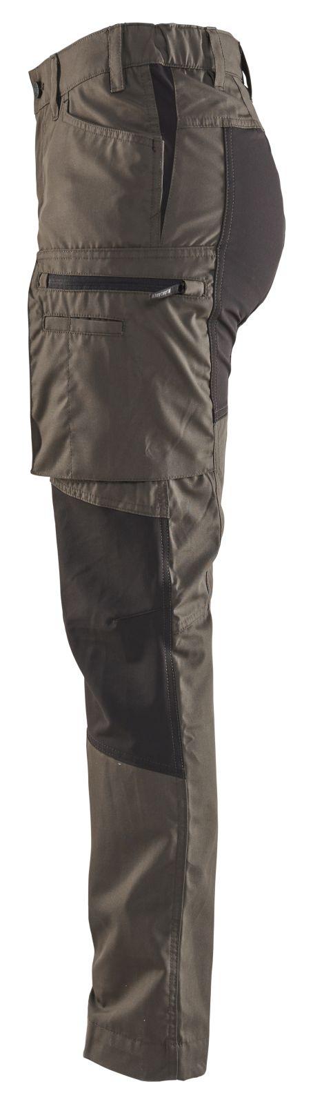 Blaklader Dames werkbroeken 71591845 groen-zwart(4599)