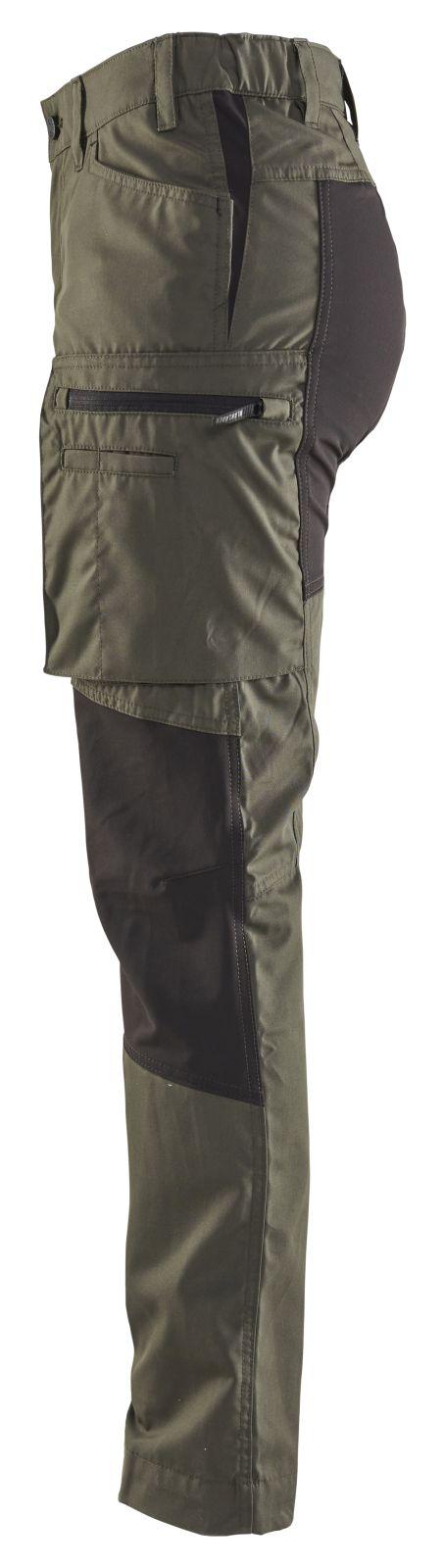 Blaklader Dames werkbroeken 71591845 army groen-zwart(4699)