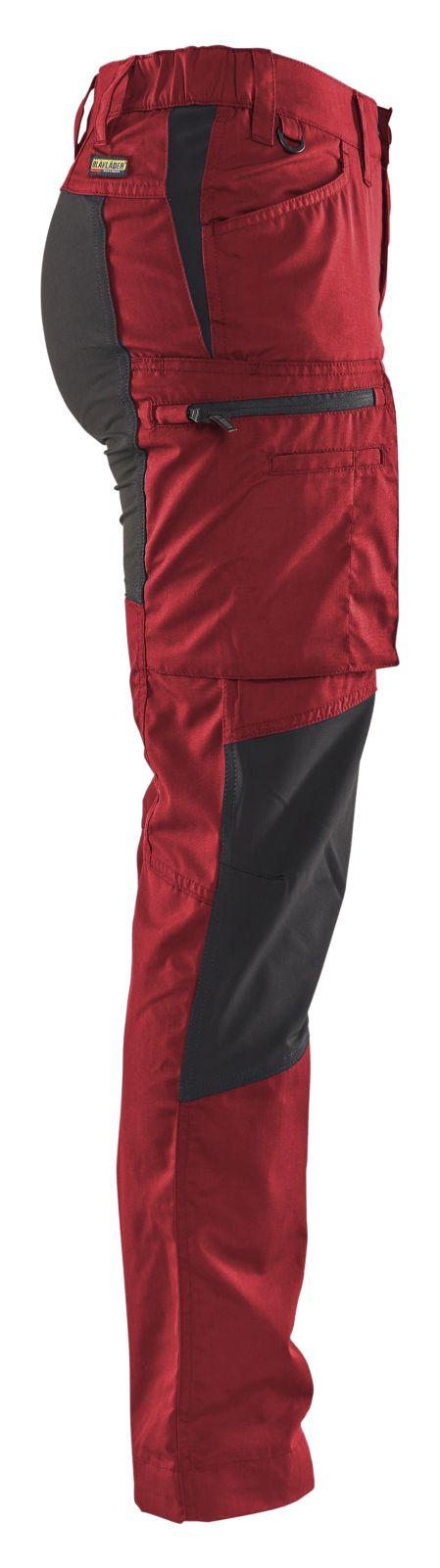 Blaklader Dames werkbroeken 71591845 rood-zwart(5699)