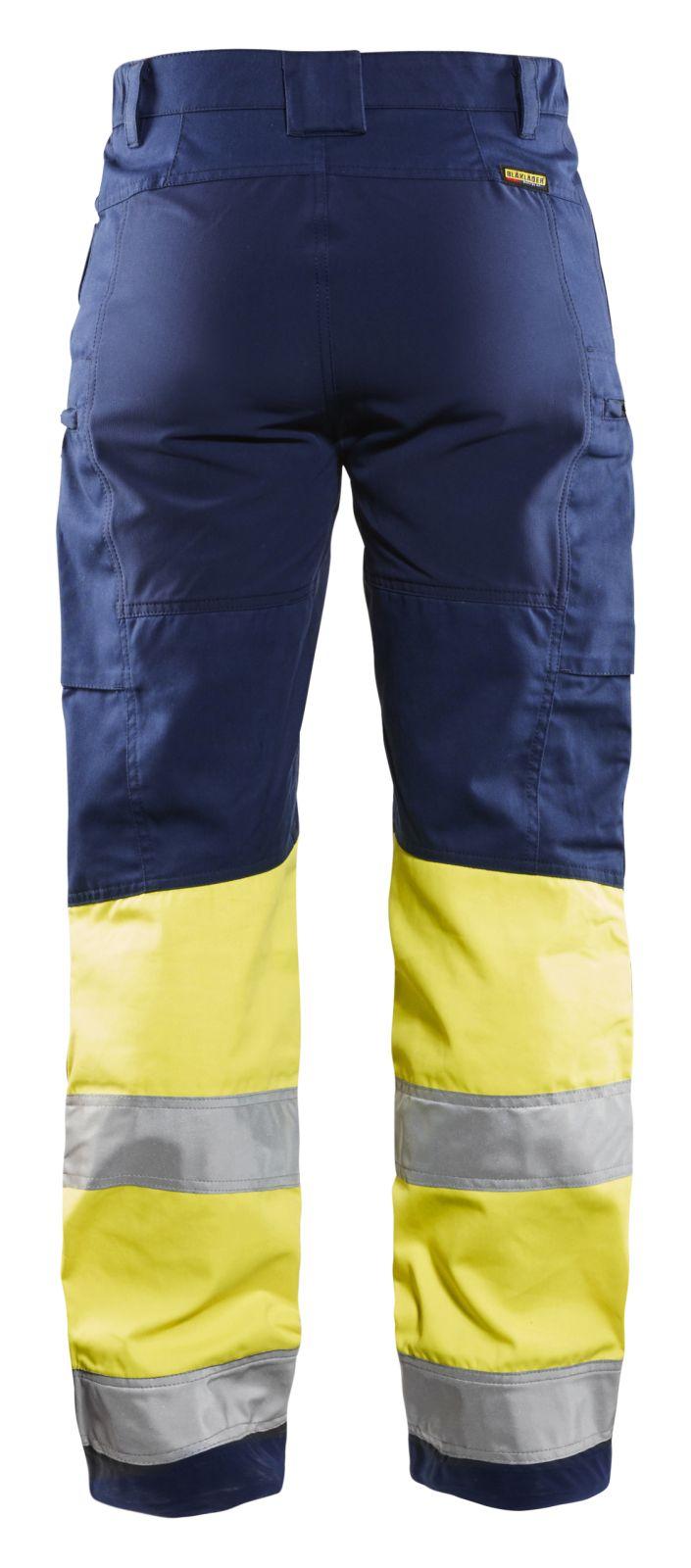 Blaklader Dames werkbroeken 71611811 High Vis marineblauw-geel(8933)