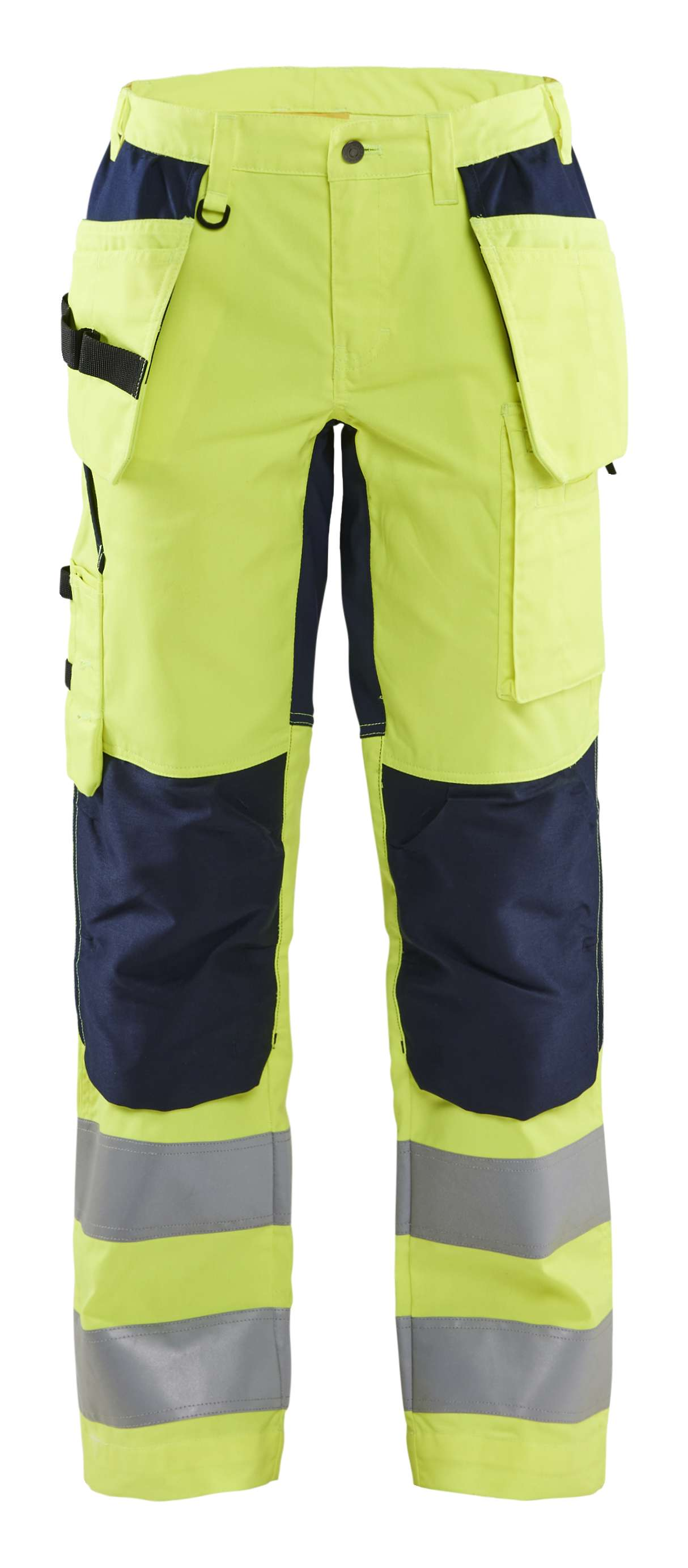 Blaklader Dames werkbroeken 71631811 High Vis fluo geel-marineblauw(3389)