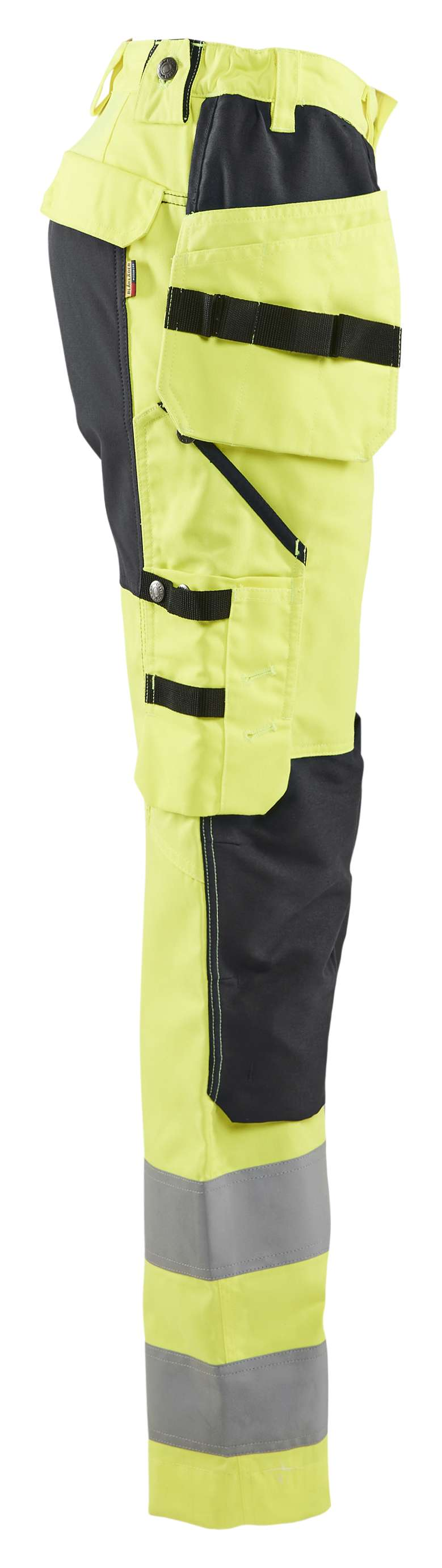 Blaklader Dames werkbroeken 71631811 High Vis fluo geel-zwart(3399)