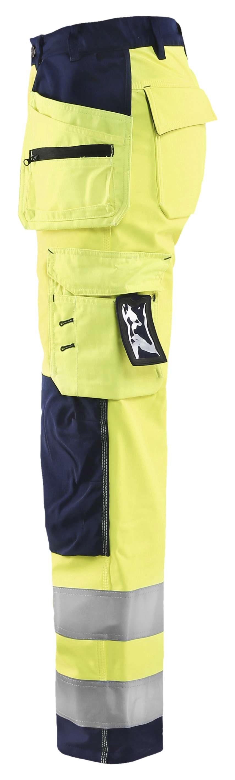 Blaklader Dames softshell werkbroeken 71672517 High Vis geel-marineblauw(3389)