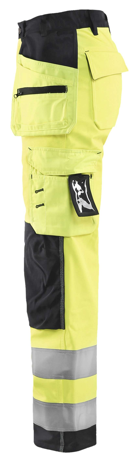 Blaklader Dames softshell werkbroeken 71672517 High Vis geel-zwart(3399)