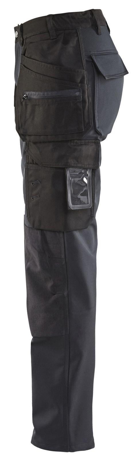 Blaklader Dames softshell werkbroeken 71682517 zwart(9900)