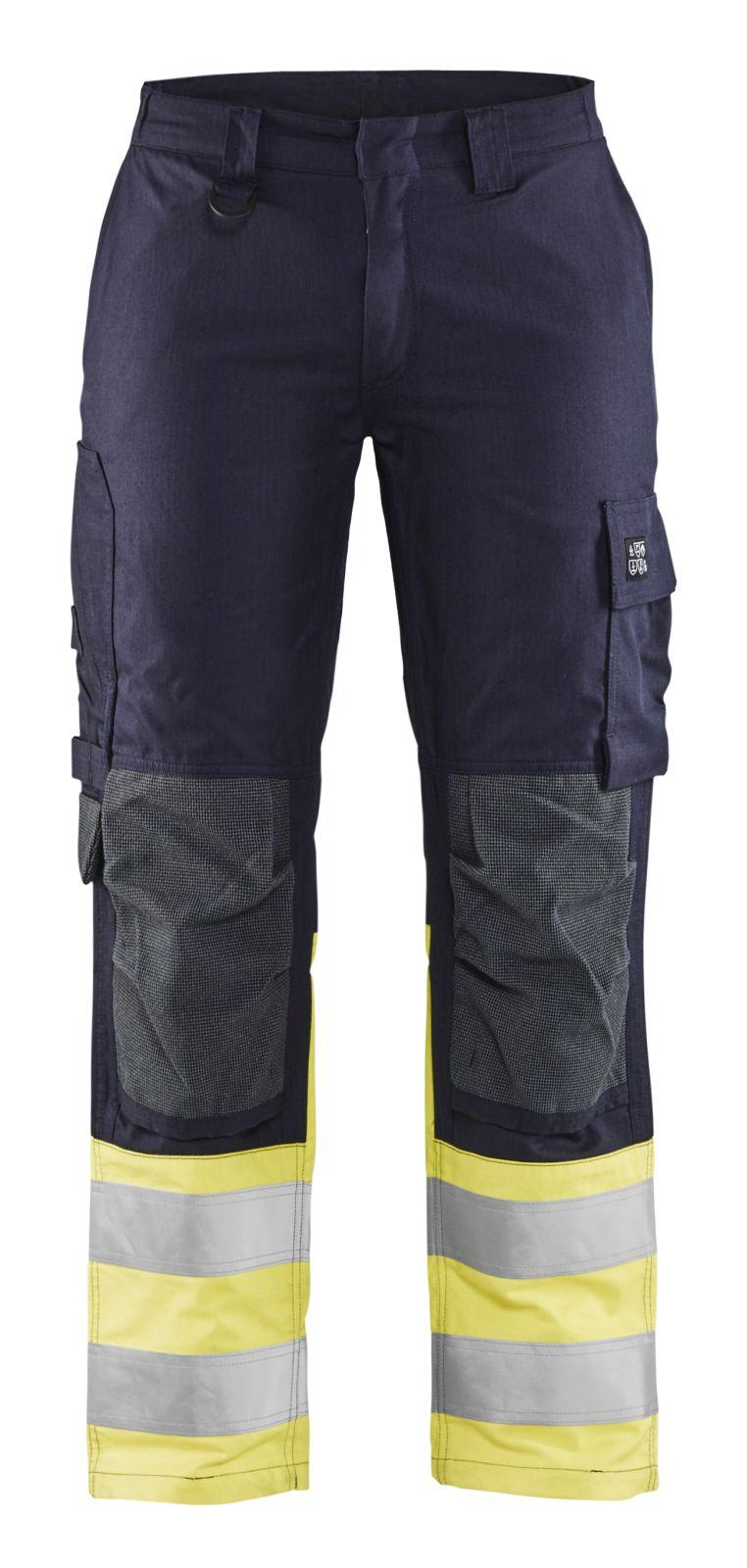 Blaklader Dames werkbroeken 71881512 Multinorm marineblauw-fluo geel(8933)