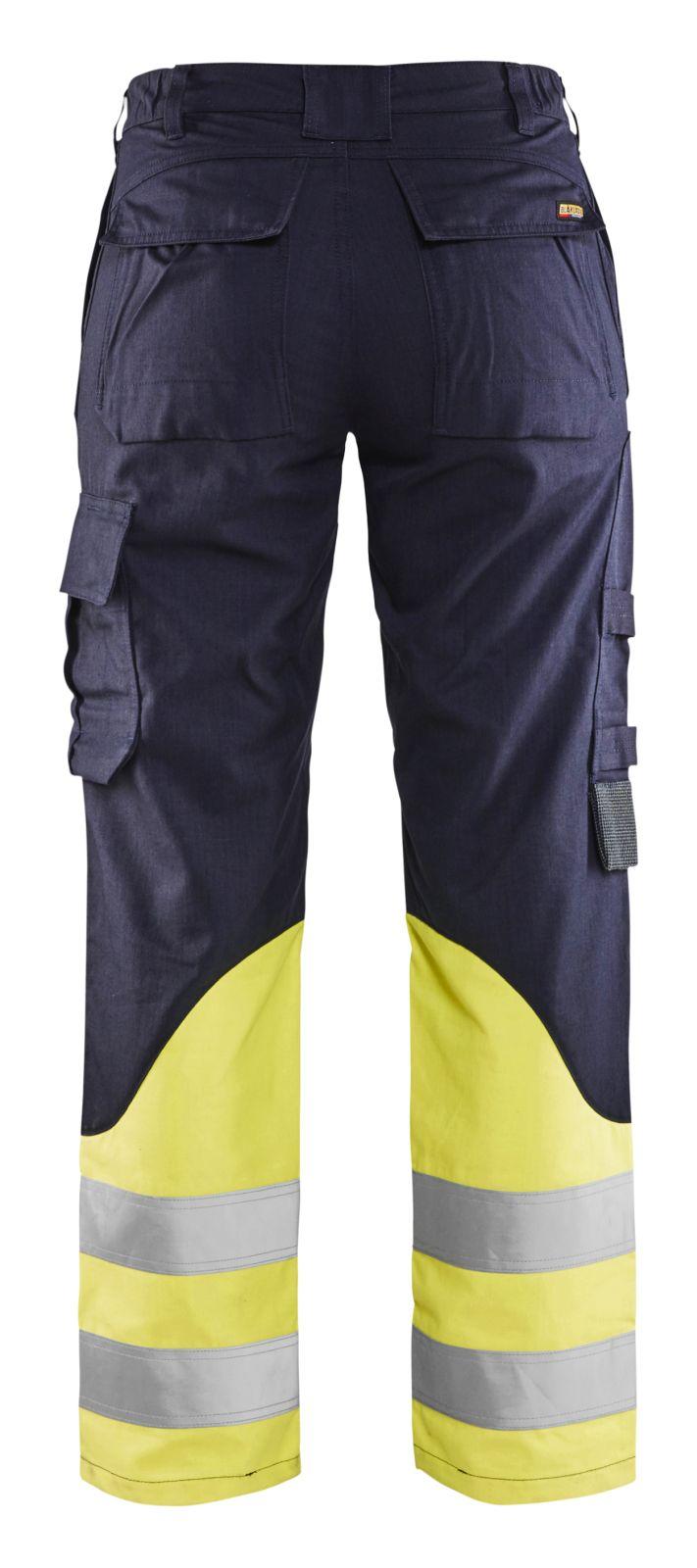 Blaklader Broeken 71881512 Multinorm marineblauw-fluo geel(8933)