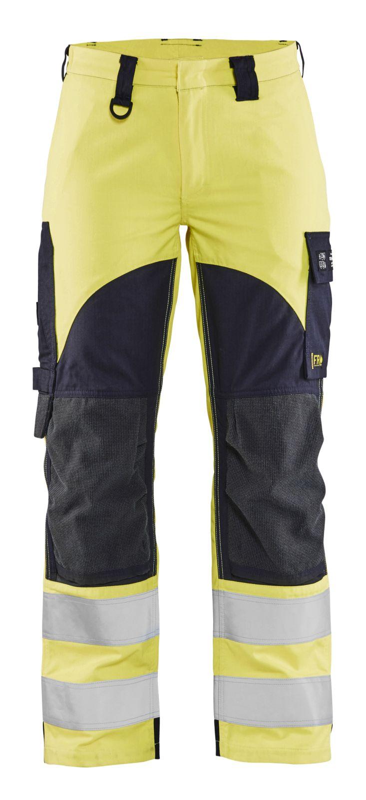 Blaklader Broeken 71891512 Multinorm fluo geel-marineblauw(3389)