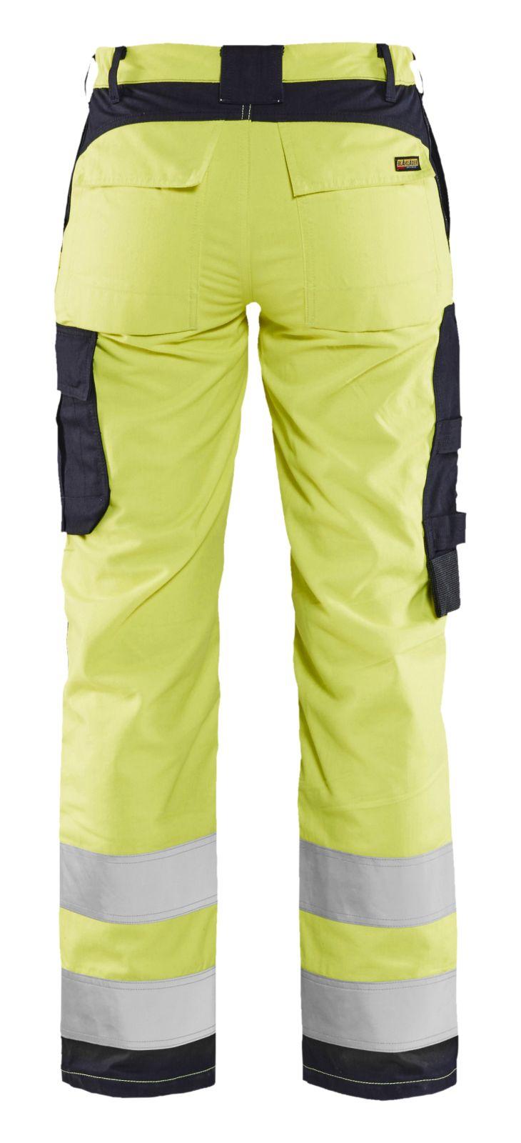Blaklader Dames werkbroeken 71891512 Multinorm fluo geel-marineblauw(3389)