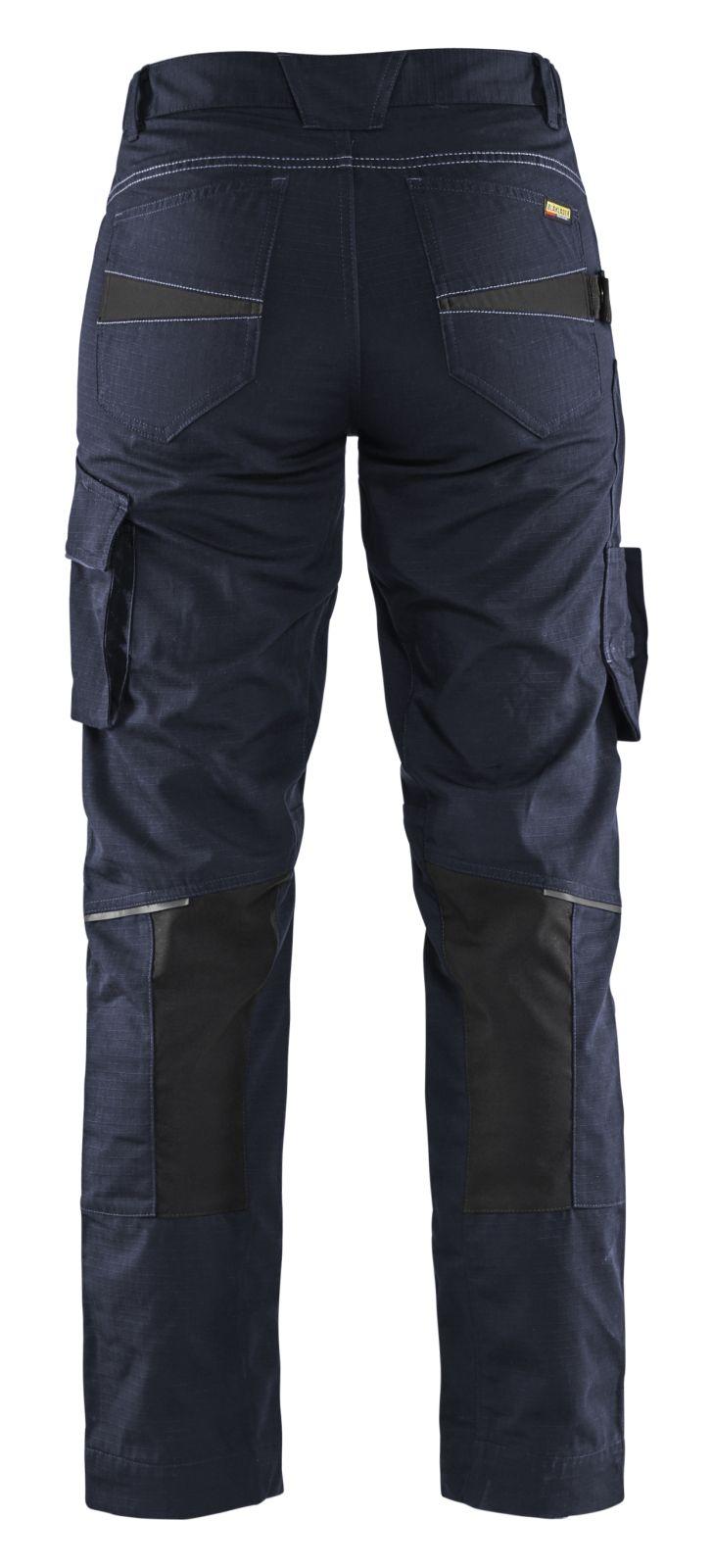 Blaklader Dames werkbroeken 71951330 donker marineblauw-zwart(8699)