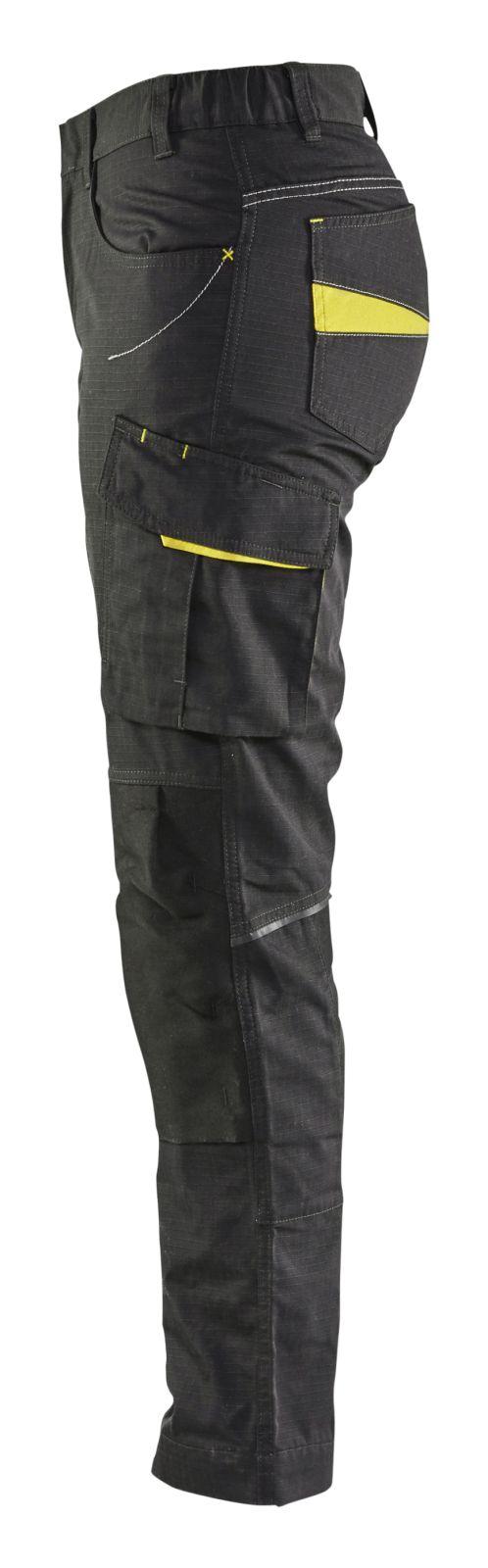 Blaklader Dames werkbroeken 71951330 zwart-fluo geel(9933)