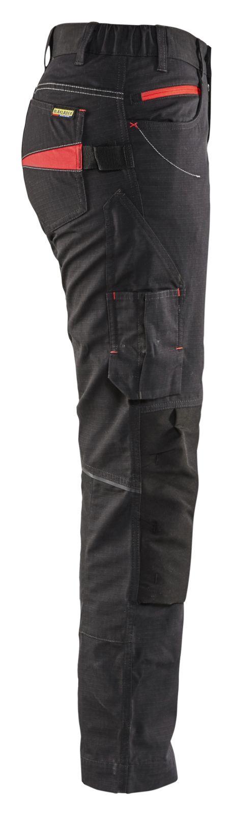 Blaklader Broeken 71951330 zwart-rood(9956)