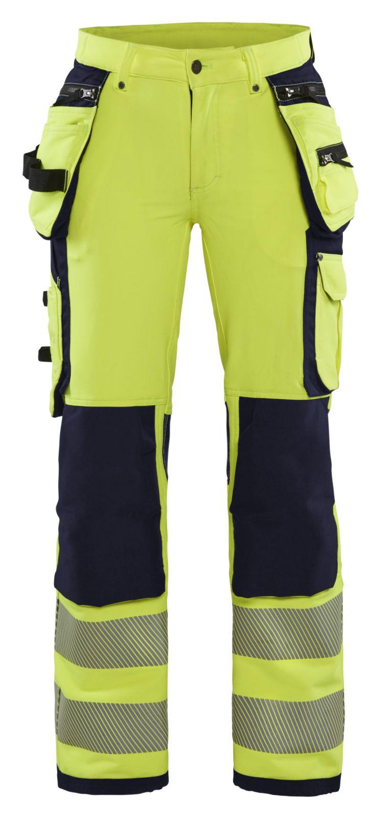 Blaklader Broeken 71971642 fluo geel-marineblauw(3389)