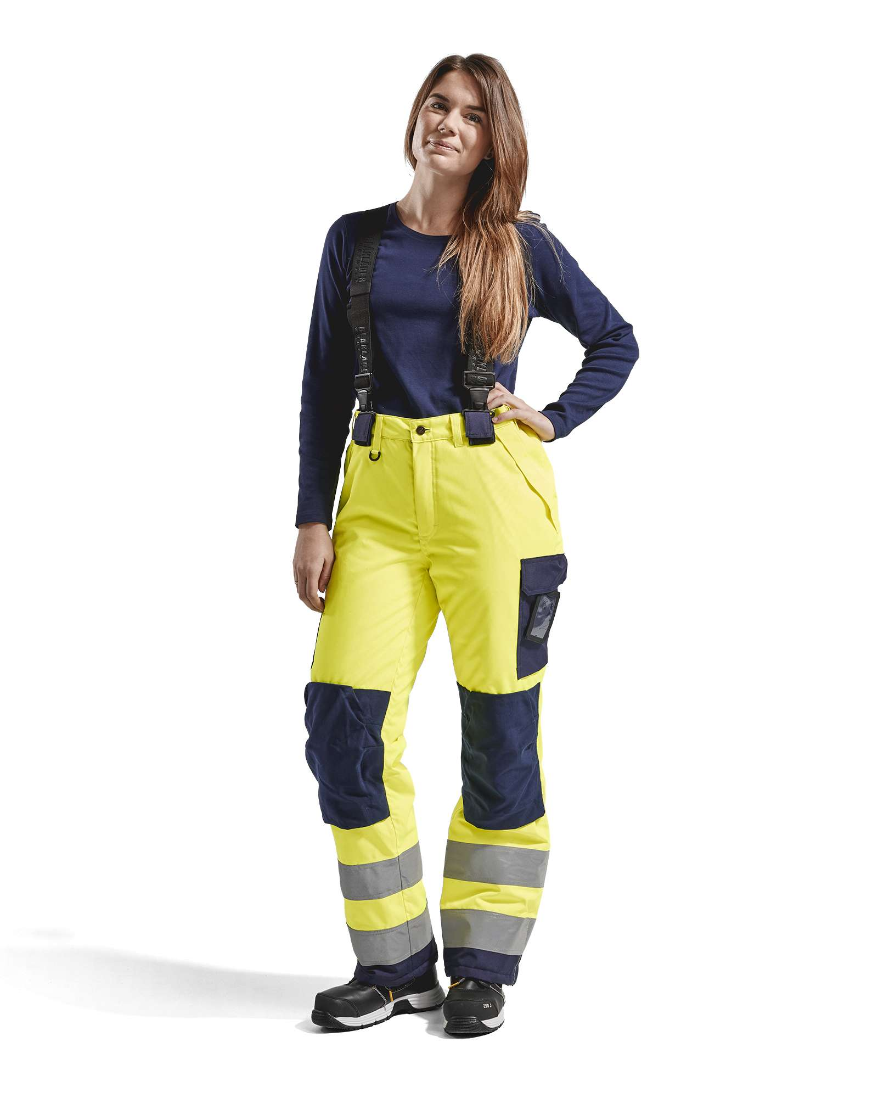 Blaklader Dames winterwerkbroeken 78851977 High Vis geel-marineblauw(3389)