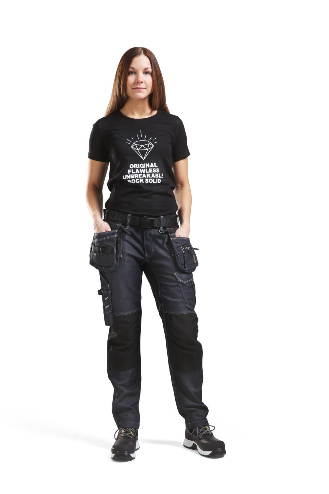 Blaklader Dames T-shirts 91881042 zwart(9900)
