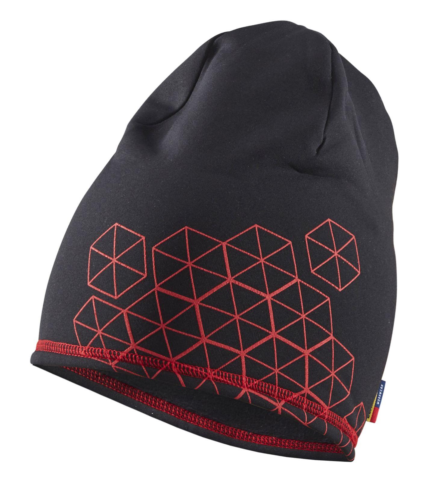 Blaklader Mutsen 92252532 zwart-rood(9956)