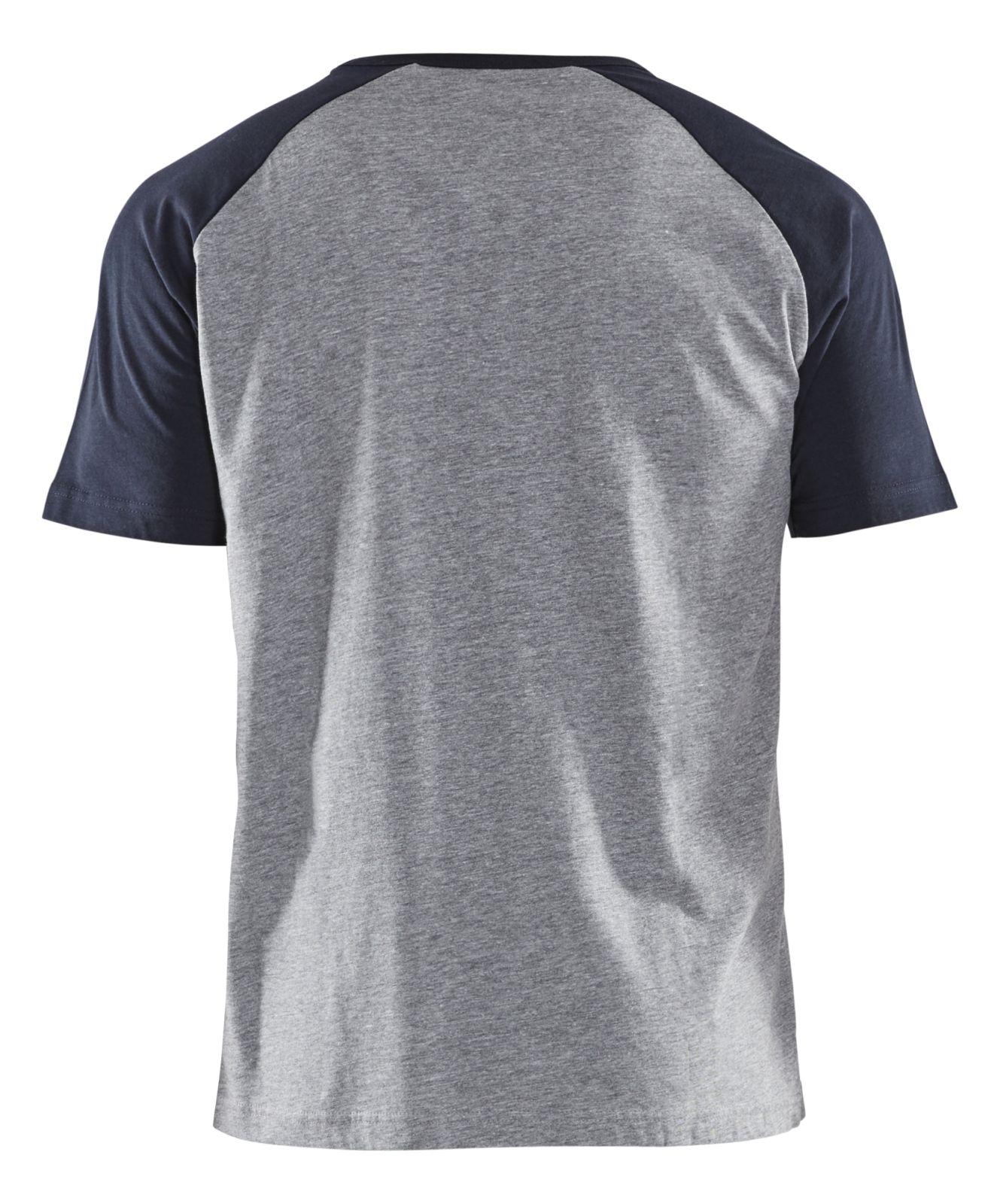 Blaklader T-shirts 94041043 grijs melee-donkerblauw(9086)