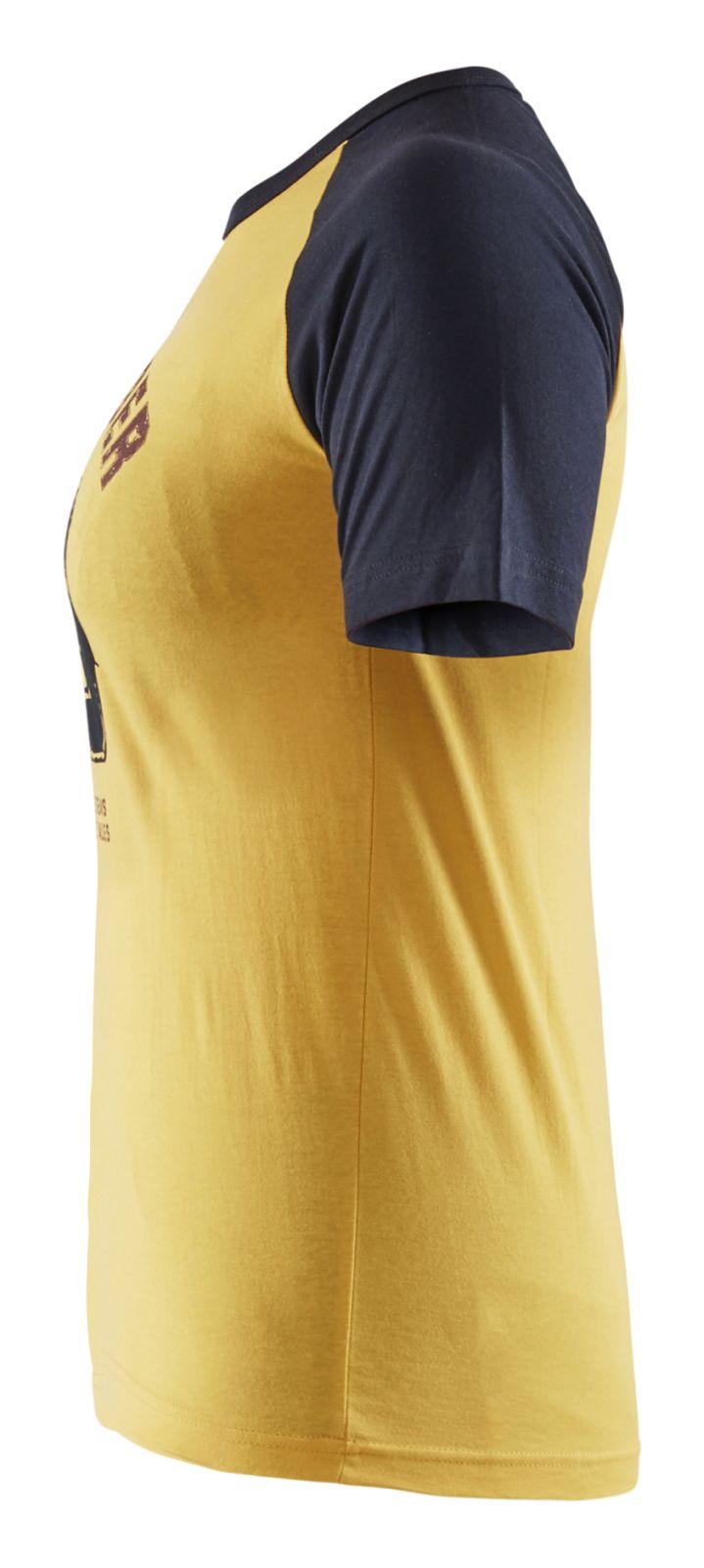 Blaklader Dames t-shirts 94051042 geel-marineblauw(3686)