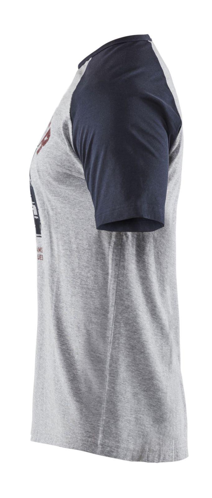 Blaklader Dames t-shirts 94051043 grijs melee-donkerblauw(9086)