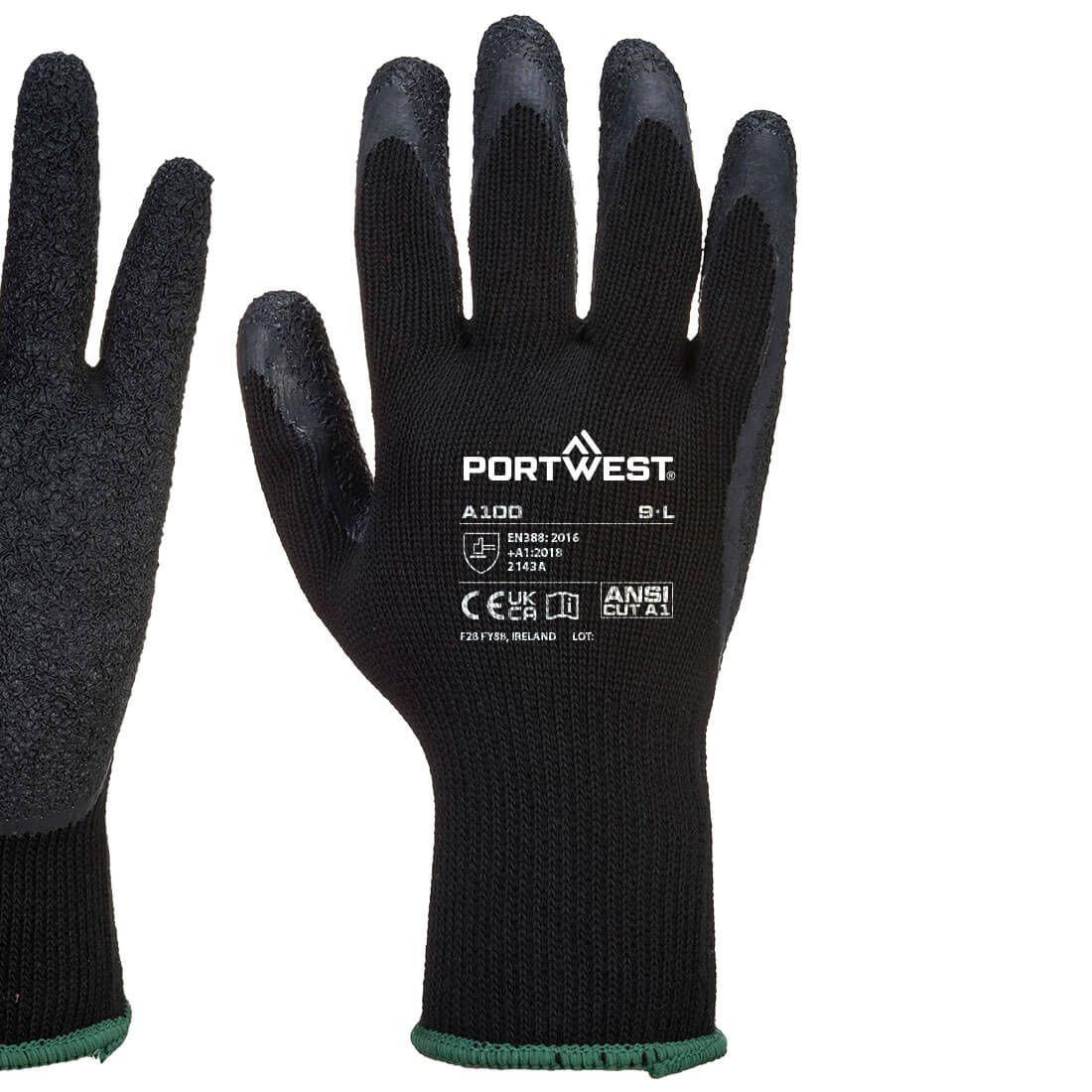 Portwest Handschoenen A100 zwart(K8)