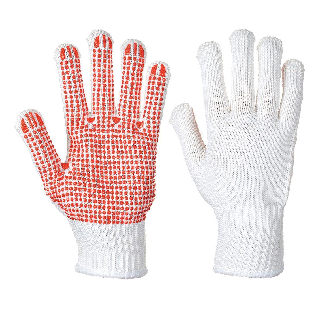 Portwest Handschoenen A112 wit-rood(W5)