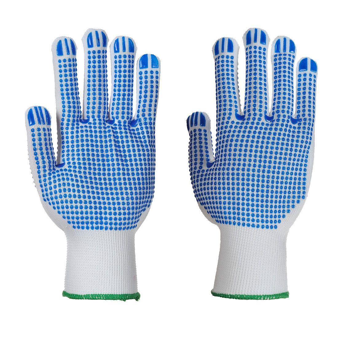 Portwest Handschoenen A113 wit-blauw(WB)