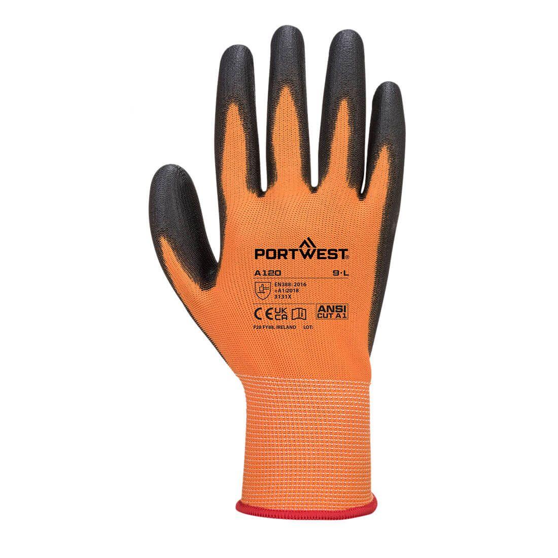 Portwest Handschoenen A120 oranje-zwart(O8)