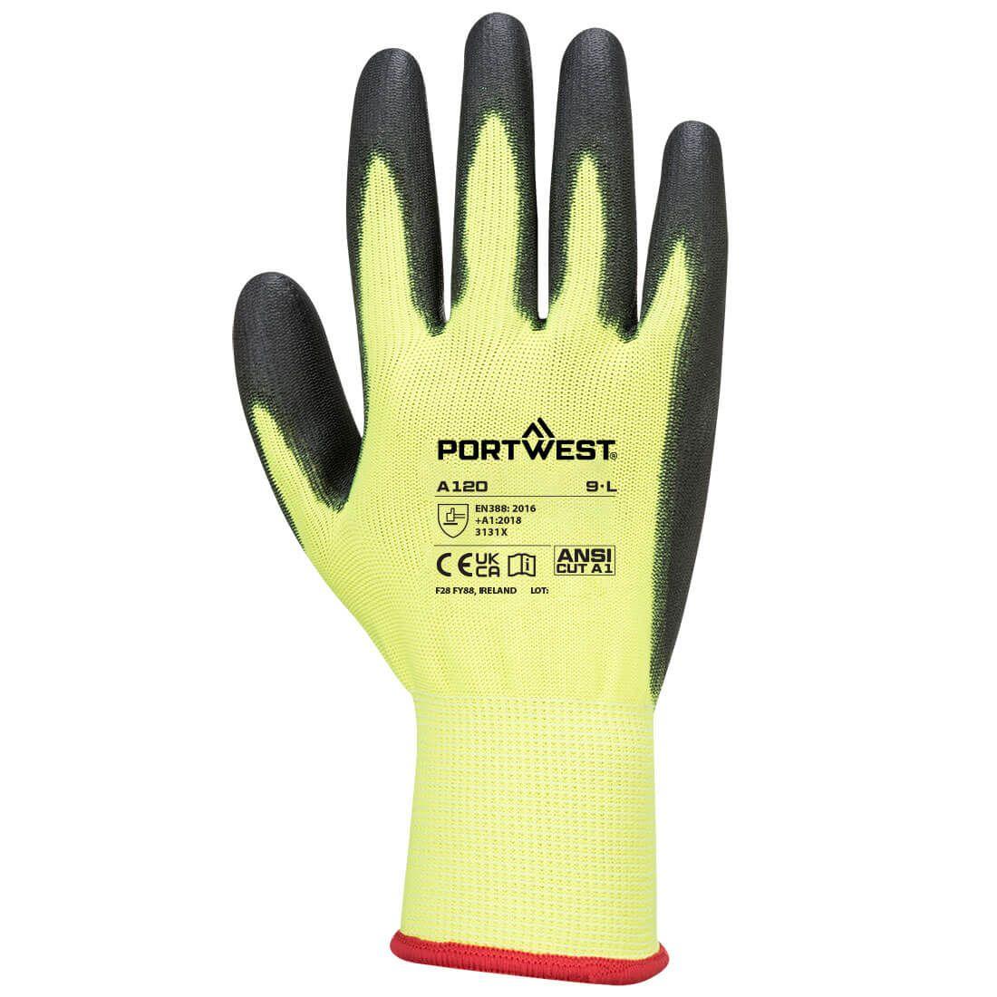 Portwest Handschoenen A120 geel-zwart(Y8)