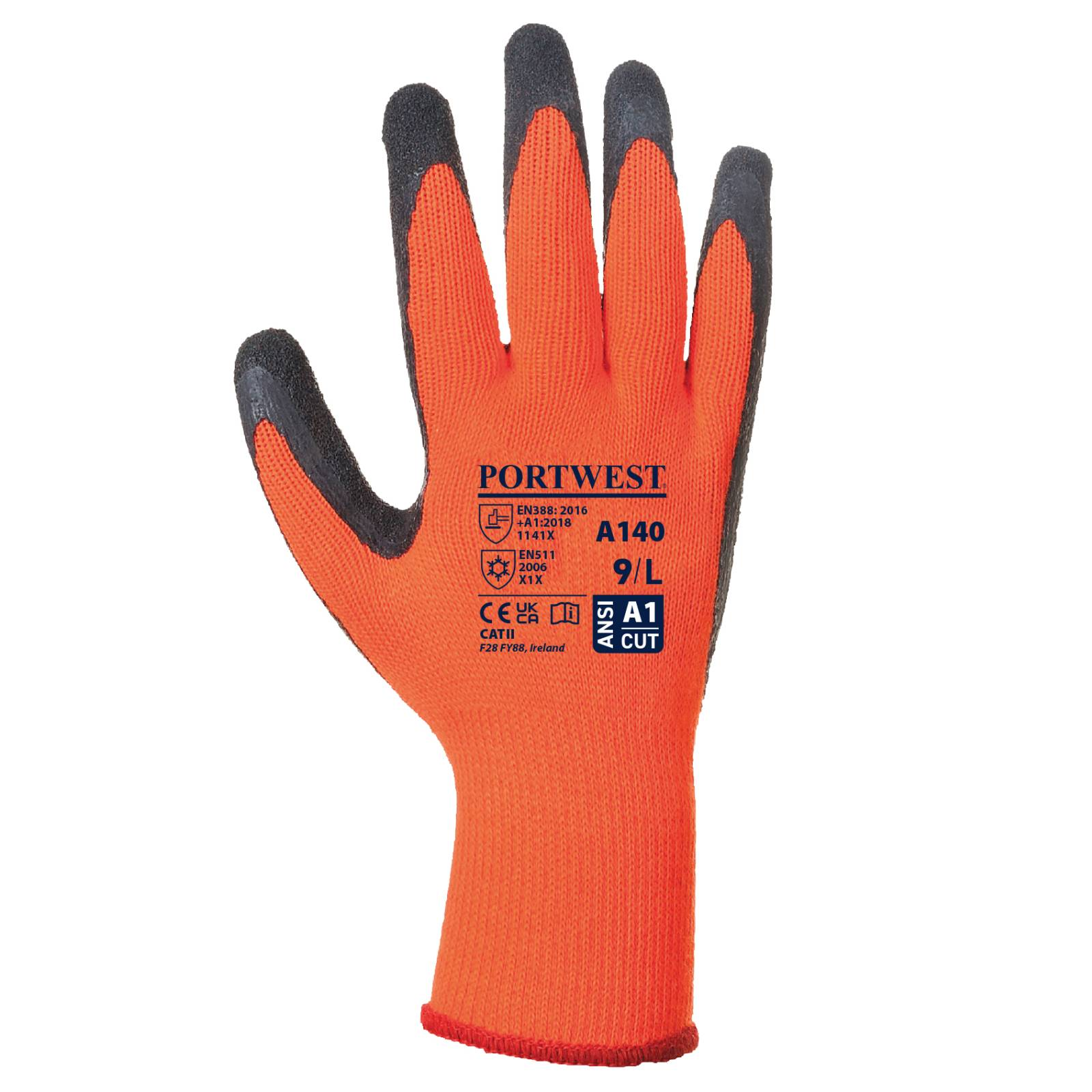 Portwest Handschoenen A140 oranje-zwart(OR)