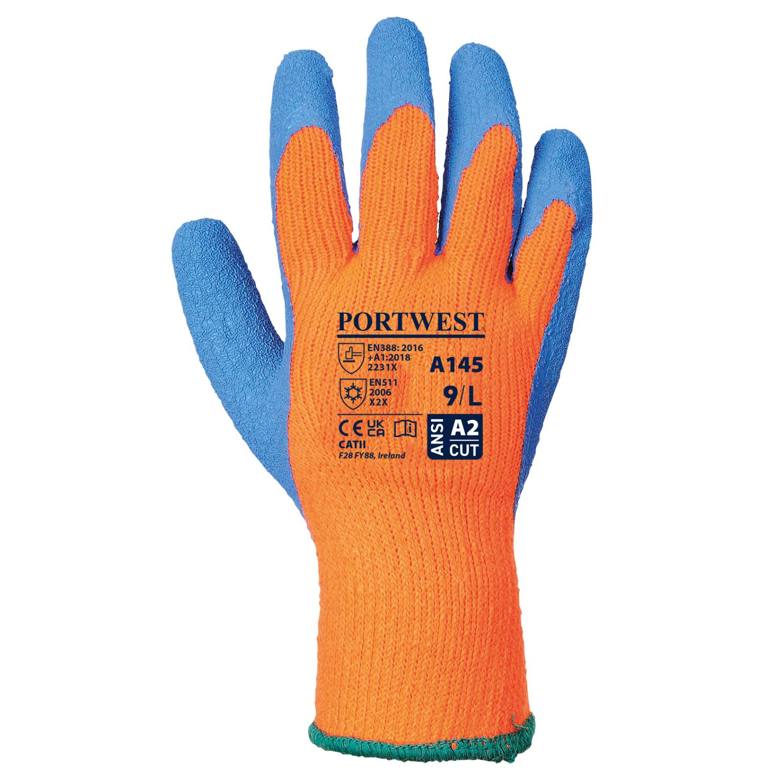 Portwest Handschoenen A145 oranje-blauw(OB)