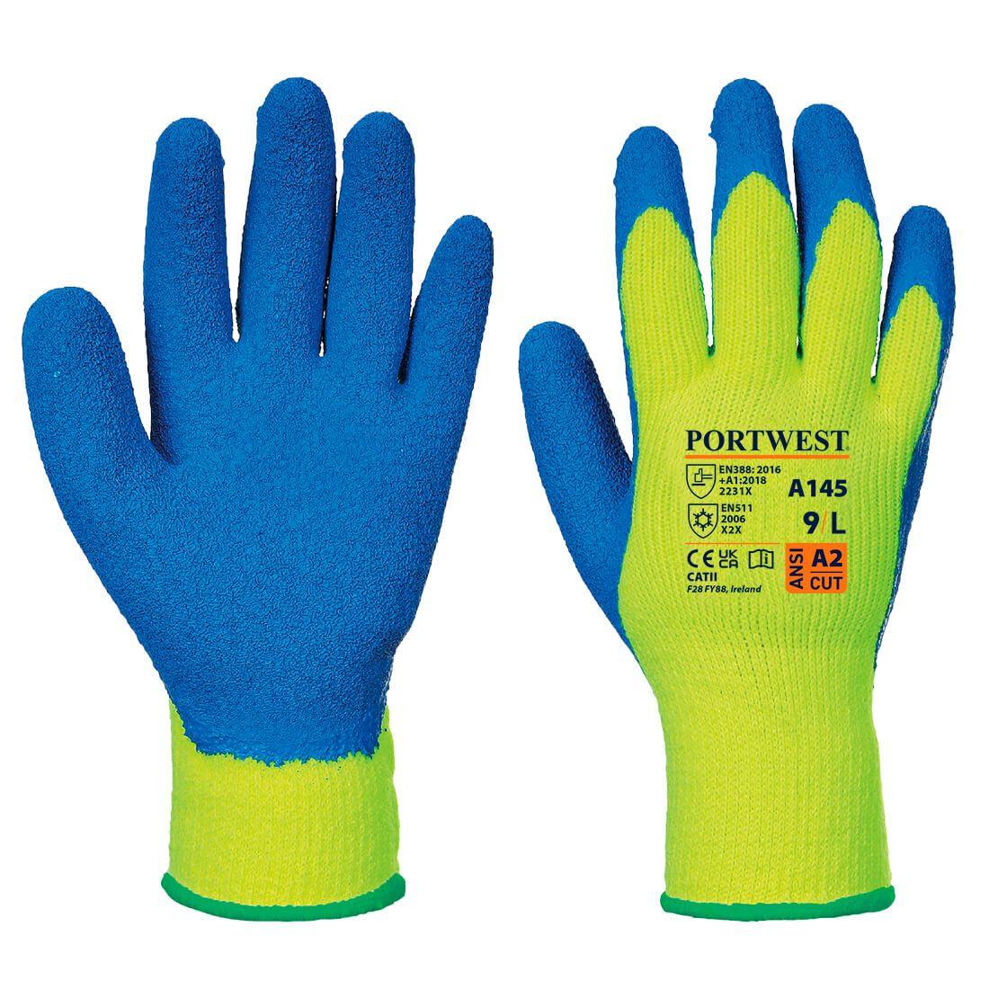 Portwest Handschoenen A145 geel-blauw(Y4)