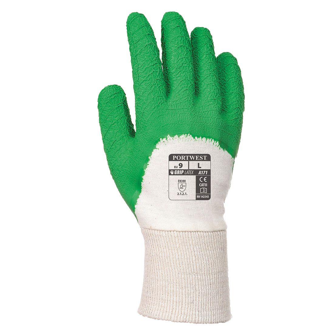 Portwest Handschoenen A171 wit-groen(W3)