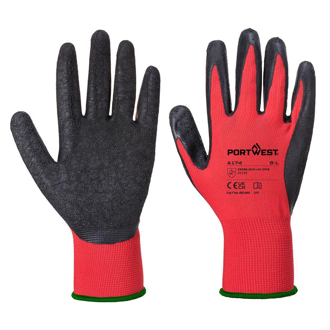 Portwest Handschoenen A174 rood-zwart(R8)